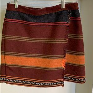 Blanket wrap skirt